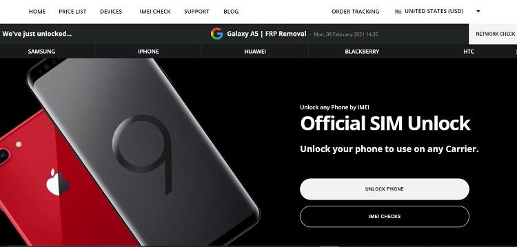 official sim unlock