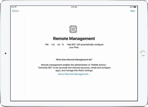 remote management message